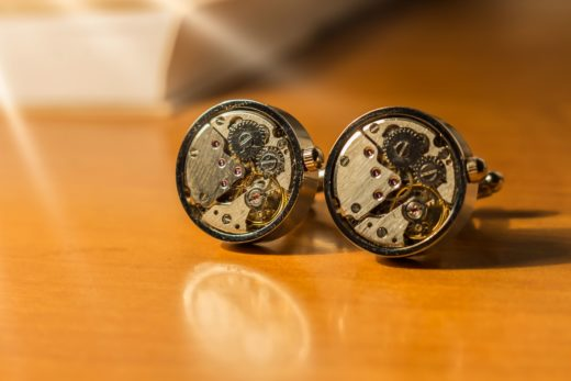 cufflinks spinki steampunk zegar3 luminar 2018