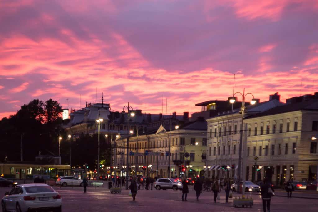 helsinki panorama wieczor bokeh photos pl
