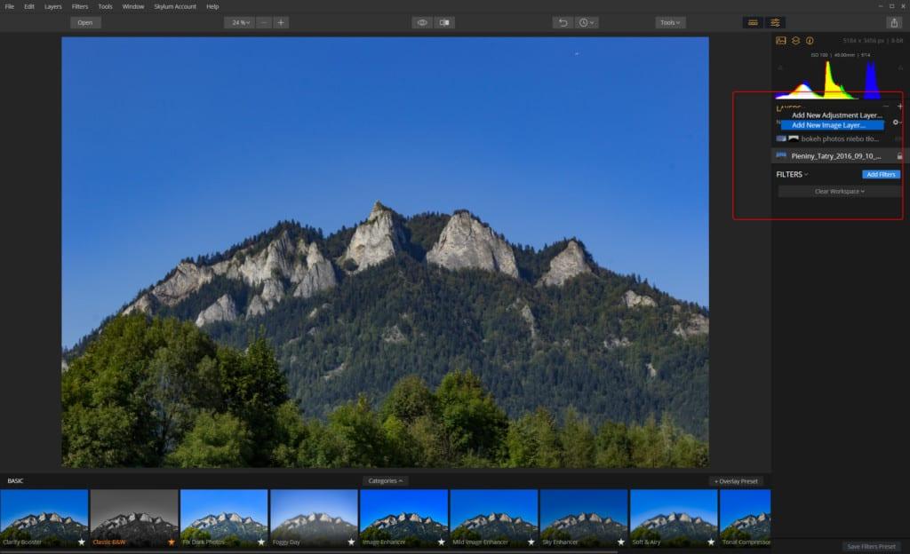 luminar 2018 darmowe tła dodawanie warstwy zdjęcia 1024x624 - Luminar 2018. Jak podmienić niebo.