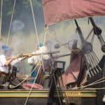 Bitwa Twierdza Wisłoujście 2018 statek libava