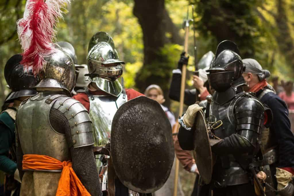 Bitwa Twierdza Wisłoujście 2018 rycerze