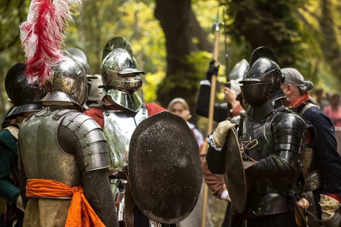 Reportaż wydarzeń Bitwa Twierdza Wisłoujście 2018 rycerze