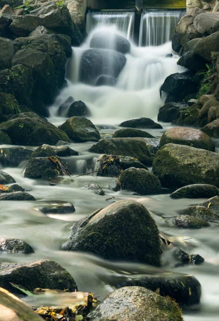 Park Oliwski Sierpień Woda długi czas naświetlania filtr nd