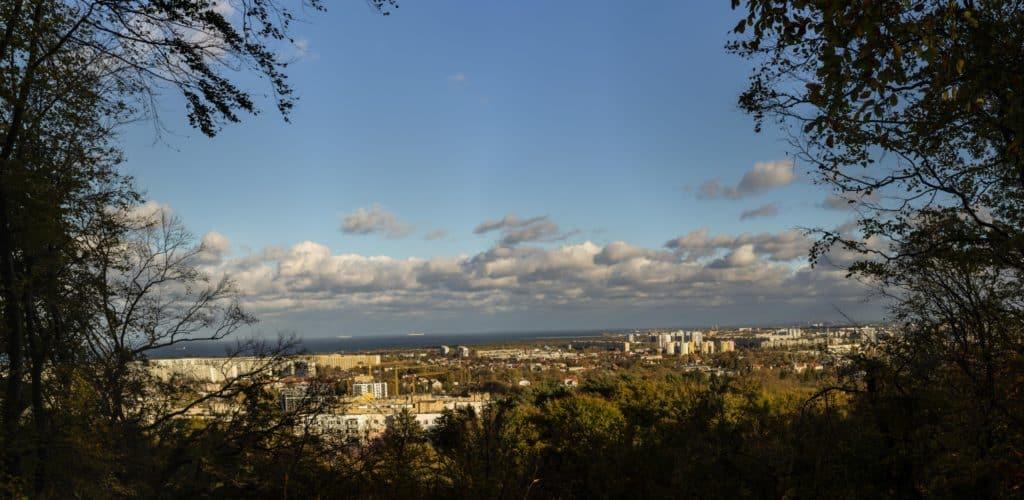 Wyzwanie fotograficzne 7 dni dzień piąty panorama żabianka pomnik bitwy oliwskiej