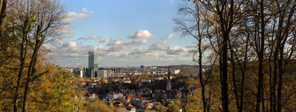 Wyzwanie fotograficzne 7 dni dzień piąty panorama gdańsk pachołek