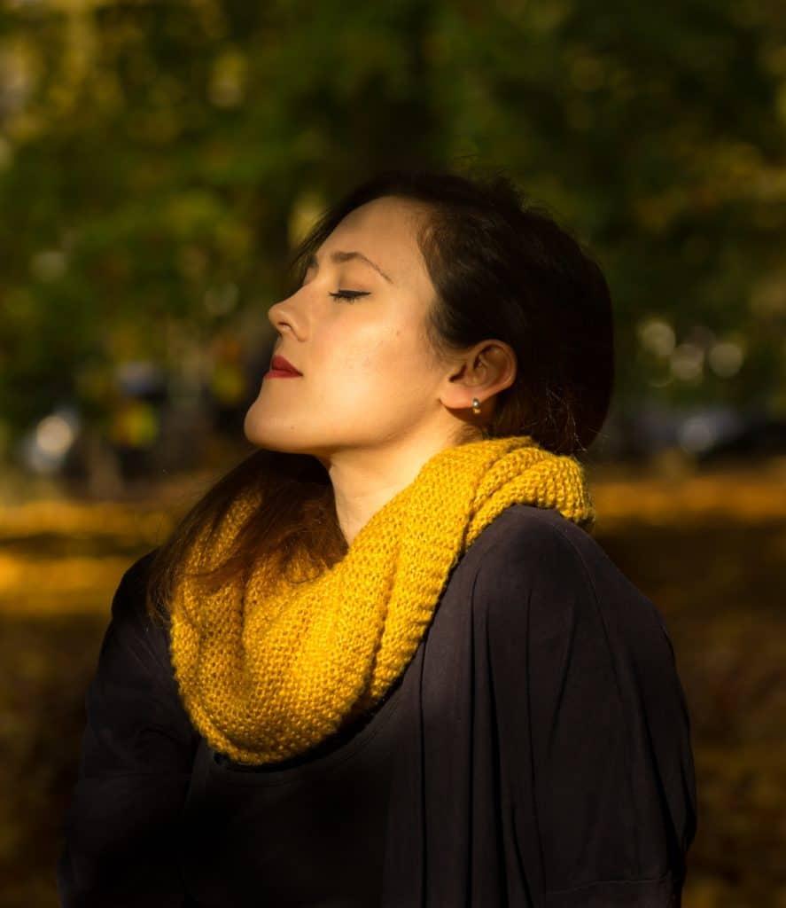 Wyzwanie fotograficzne 7 dni dzień drugi jesienny portret profil