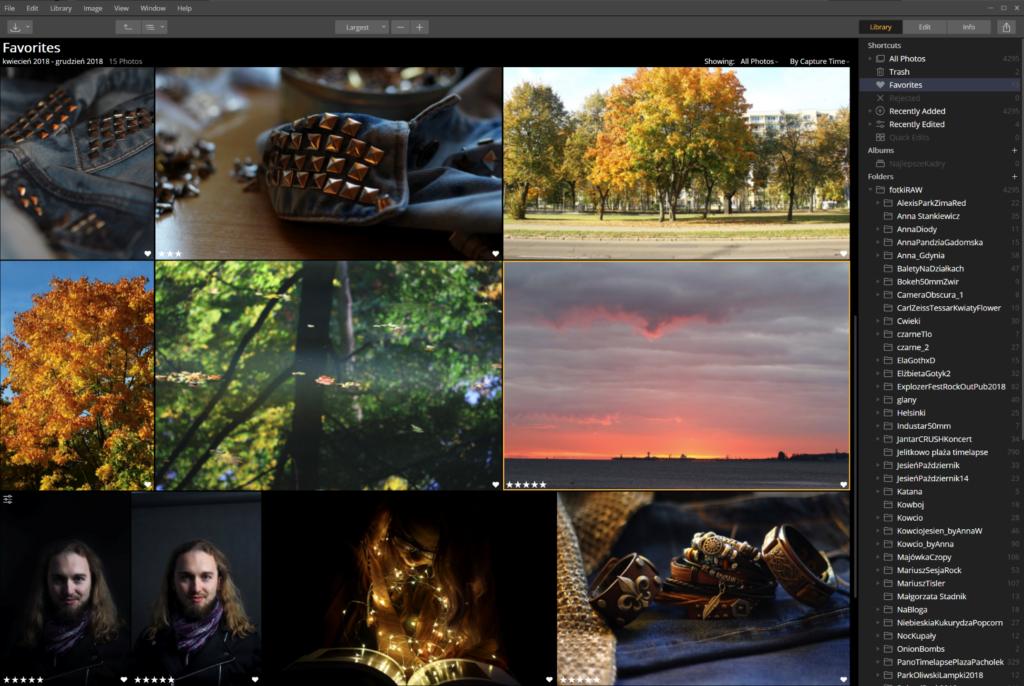 Luminar zarządzanie zdjęciami przykład interfejsu 1024x686 - Luminar vs Lightroom - aktualizacja