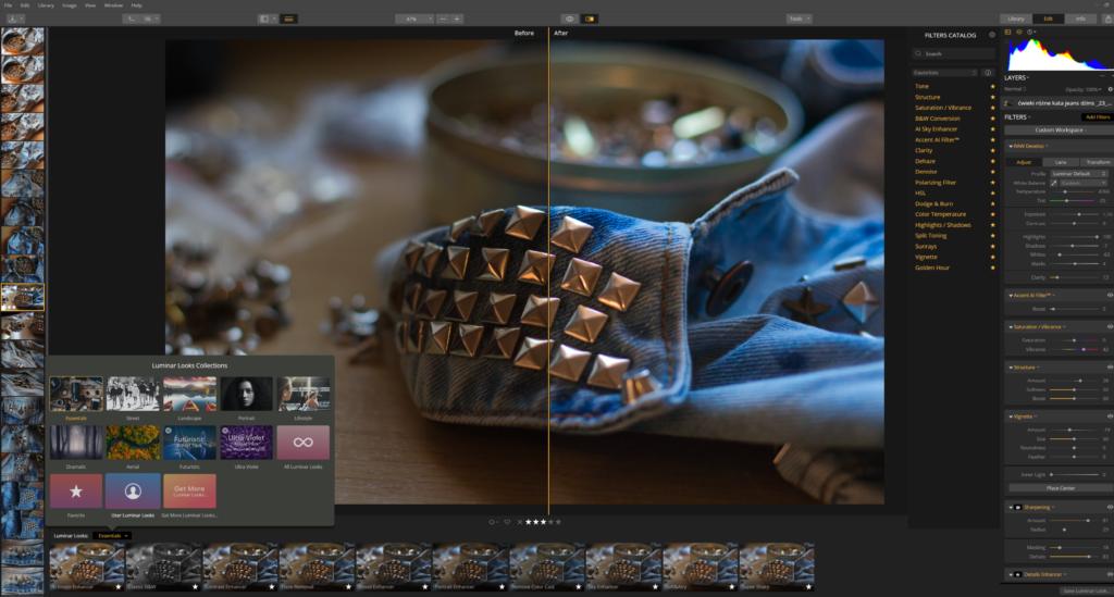 luminar presety presets przykładowy zrzut ekranu 1024x549 - Luminar vs Lightroom - aktualizacja