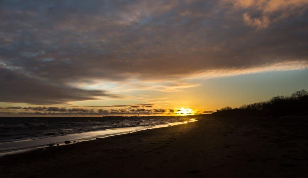 Jak zrobnić animowane zdjęcie Photo Mirage Plaża Zima Jelitkowo