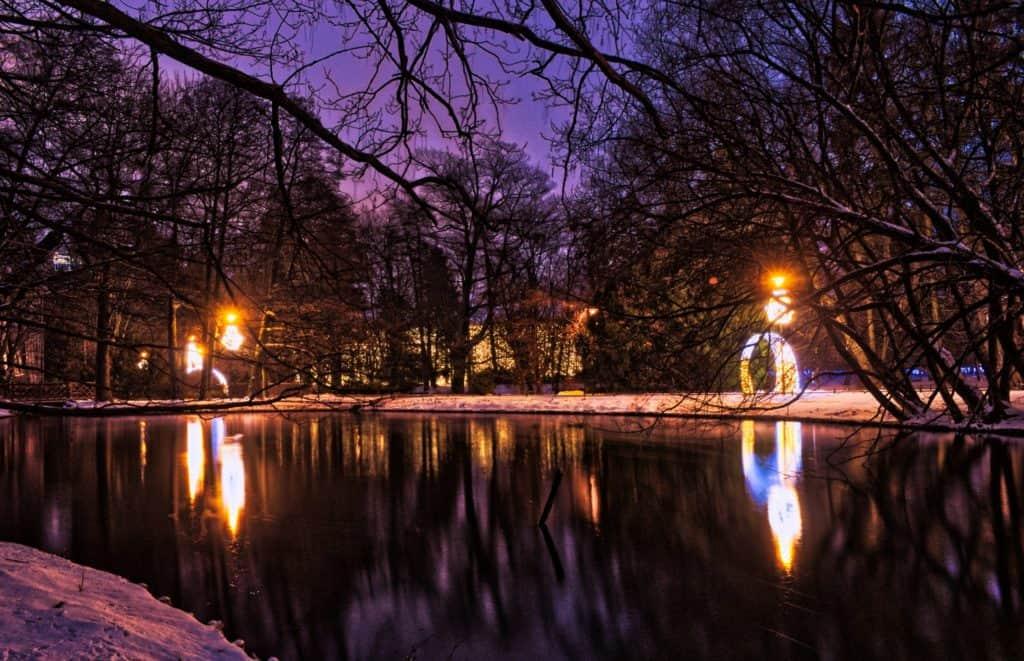 Fotografia hdr przykład pstrokatego koloru Park Oliwa