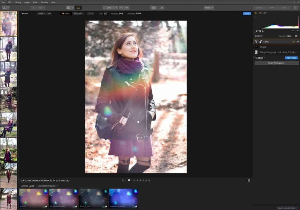 """Zdjęcie kompozytowe dodawania flar i efektów świetlnych Luminar 3 1024x717 - Nakładanie zdjęć i grafik. Warstwy """"overlay"""""""