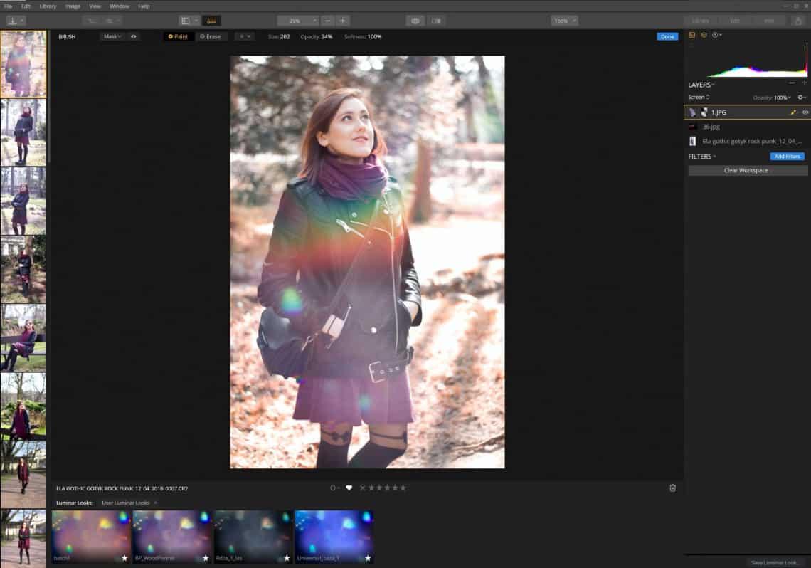 Zdjęcie kompozytowe - dodawania flar i efektów świetlnych - Luminar 3