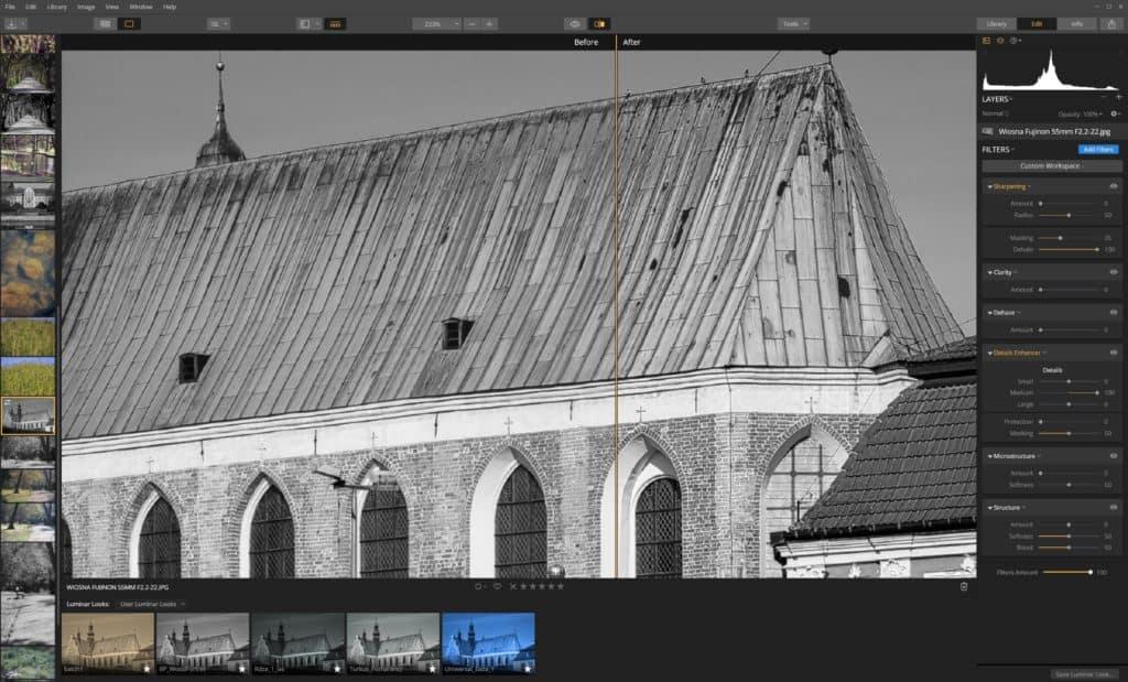 Jak wyostrzyć zdjęcie Details Enhancer - średnie detale