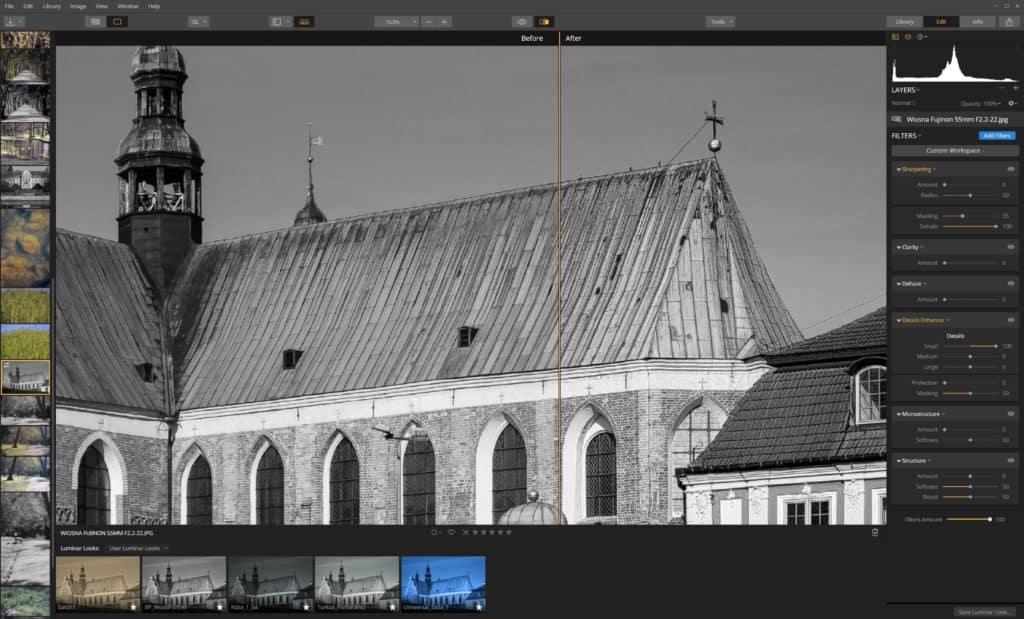 Jak wyostrzyć zdjęcie Details Enhancer - małe detale