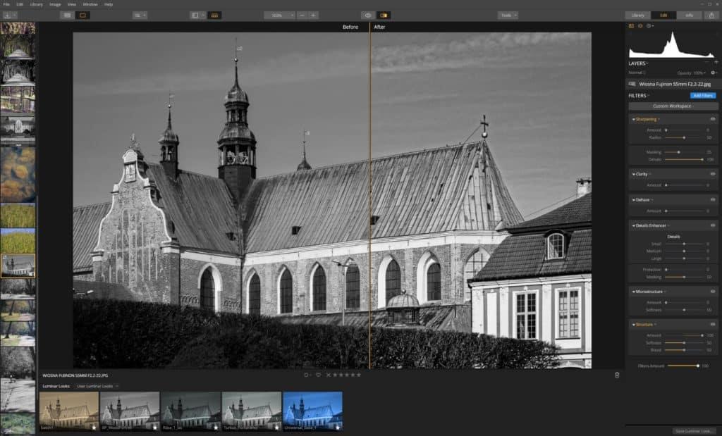 Jak wyostrzyć zdjęcie Luminar -filtr struktura