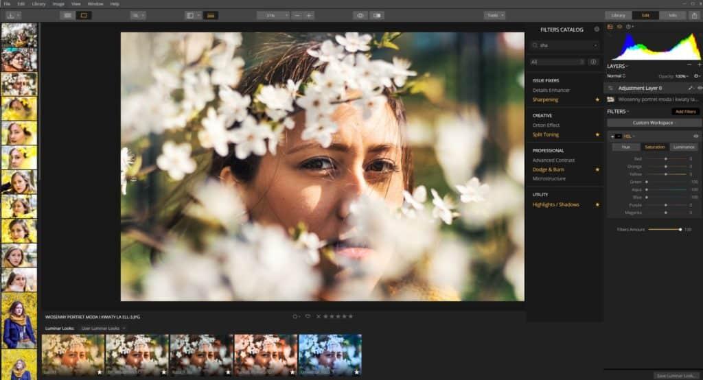 kolor grading styl instagram 1024x554 - Wiosenny portret z kwiatami