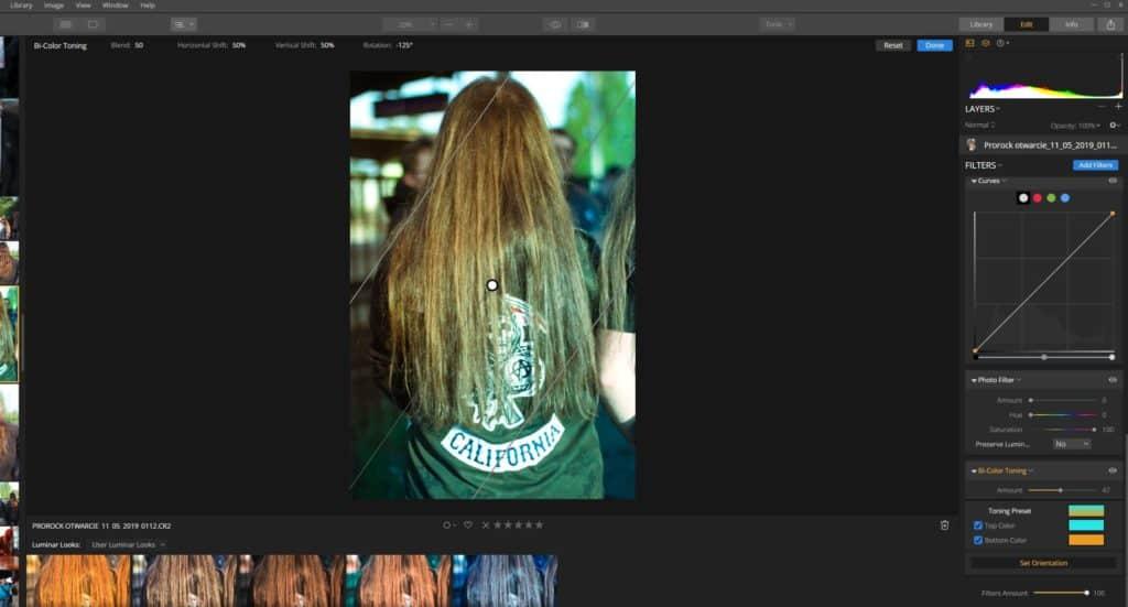 Kolorowanie zdjęć - Bi color toning - koloryzuje zdjęcie jak filtr gradientowy