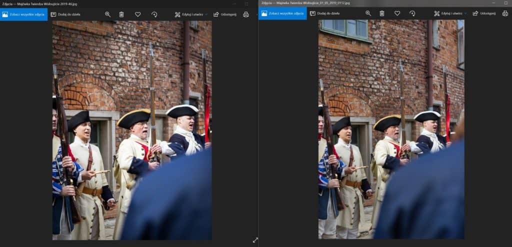 Obróbk zdjęcia vs luminar AI 2- przykład Twierdza wisłoujście