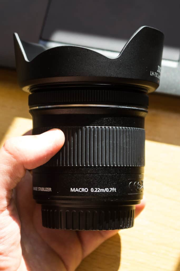 Canon 10-18 oznaczenie makro