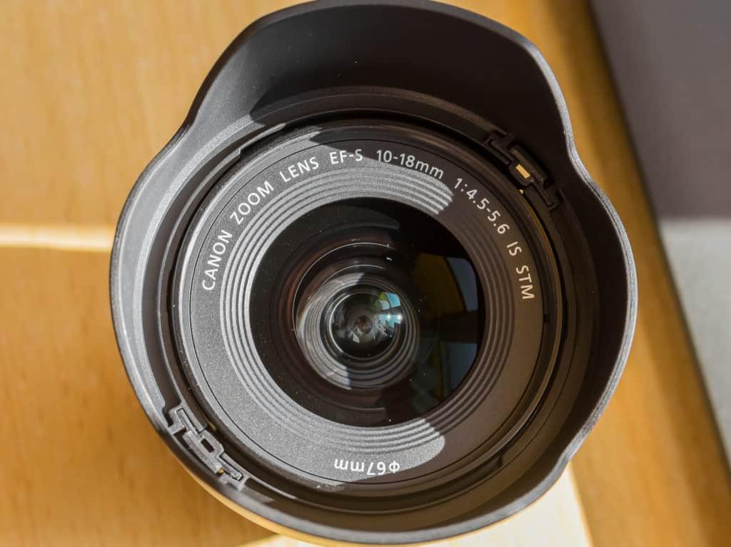 Canon obiektyw szerokokątny Canon 10-18mm front soczewki