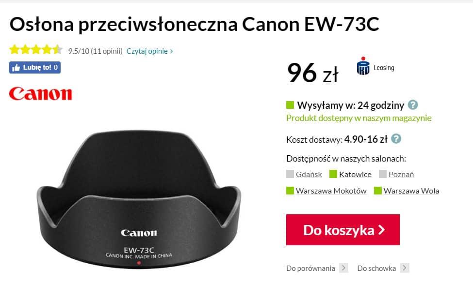 image - Canon obiektyw szerokokątny 10-18mm