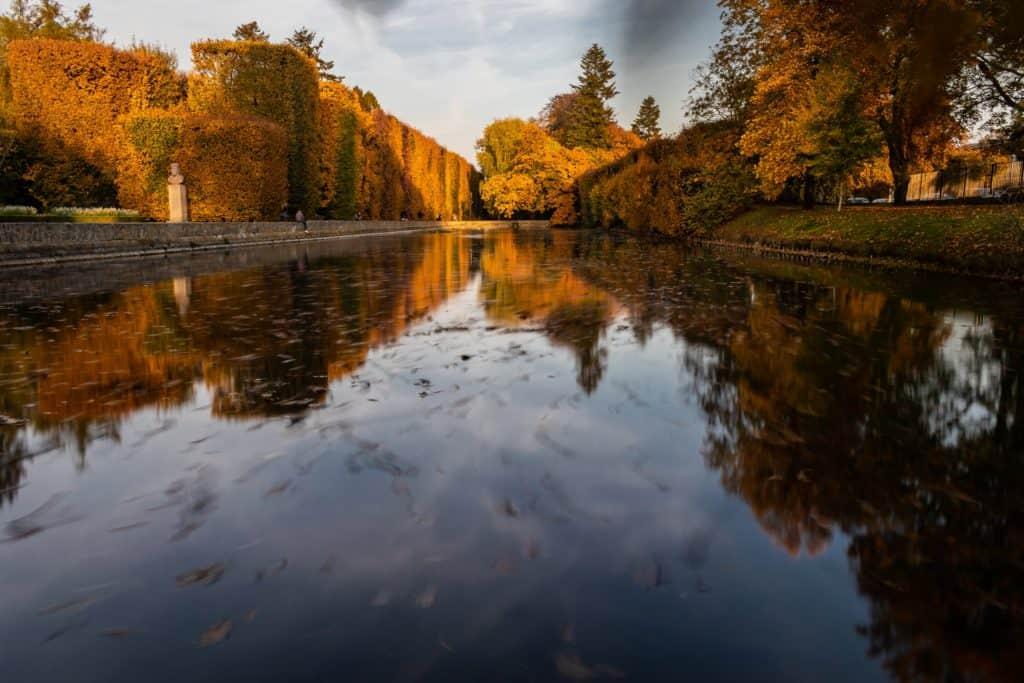 Fotografia lustrzana i odbicia jesień w parku oliwskim w Gdańsku 9 1024x683 - Złota godzina w fotografii