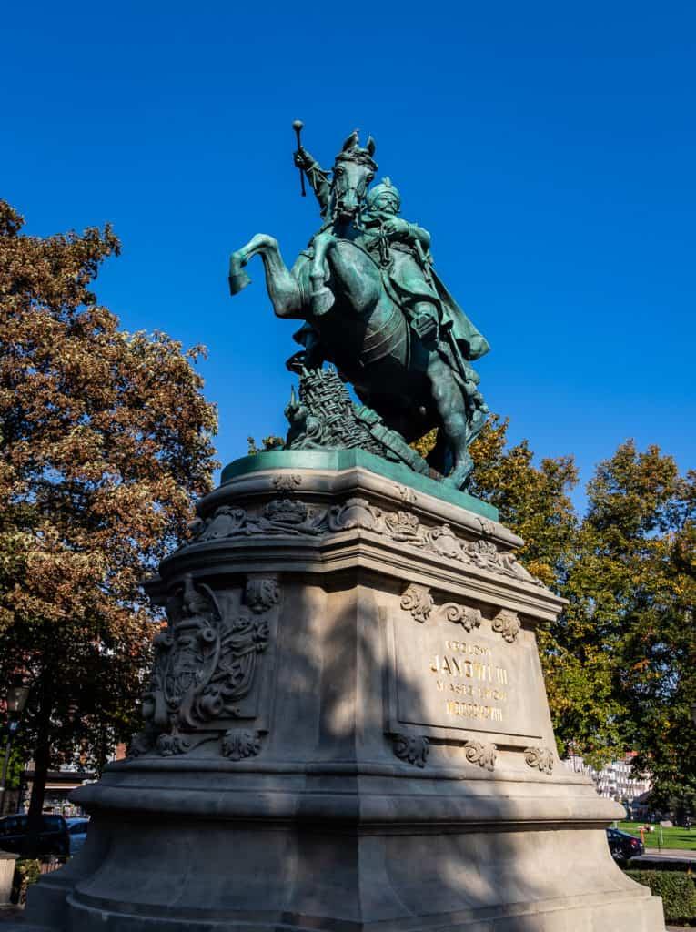 gdansk_w_kadrze pomnik Jana III Sobieskiego w Gdańsku