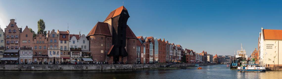 Fotografia miejska czyli fotografie Gdańska - panorama Długiego Pobrzeża