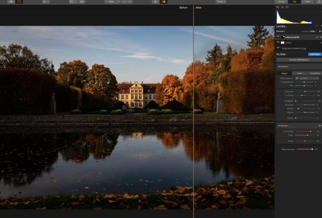 efekt ortona przez wartstwę rozmytą przez odszumianie lub contrast 1024x693 - Efekt Ortona w fotografii