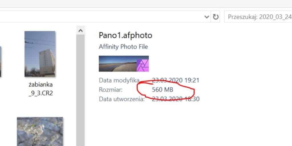 Duże pliki z panoramą program affinity photo 1024x513 - Affinity photo - alternatywa dla photoshopa
