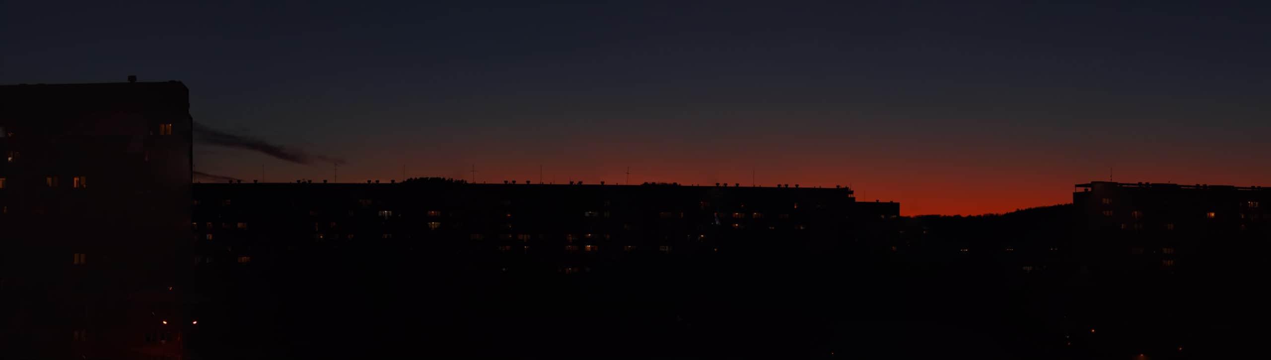Zachód słońca nad centrum wszechświata czyli Żabiance. Panorama Piotr Kowalski