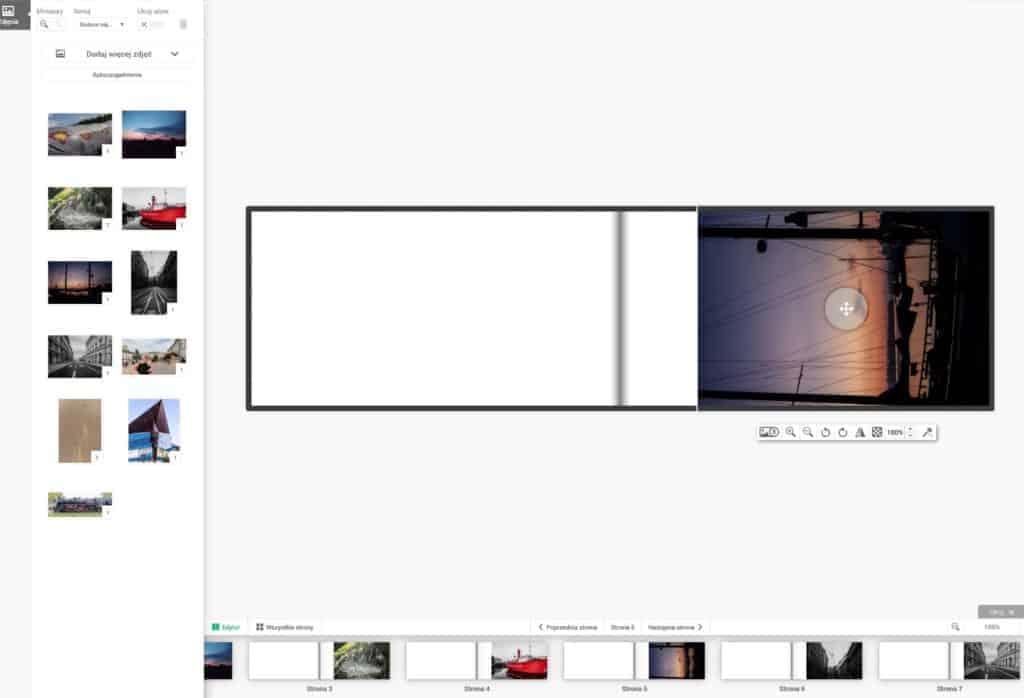 Pixbook edycja pojedynczych stron 1024x698 - Mini książka fotograficzna  Pixbook. Czy warto ?