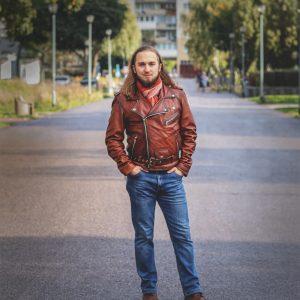 Kurtka skórzana Marbet - fotografia mody i reklamy - stylistyka aranż