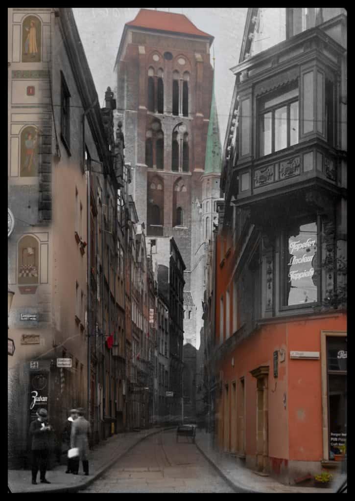 Gdansk kiedys i dzis ulica Kaletnicza IS PAN 000019049 725x1024 - Zdjęcia starego Gdańska. Kompozycja w 5 prostych krokach !