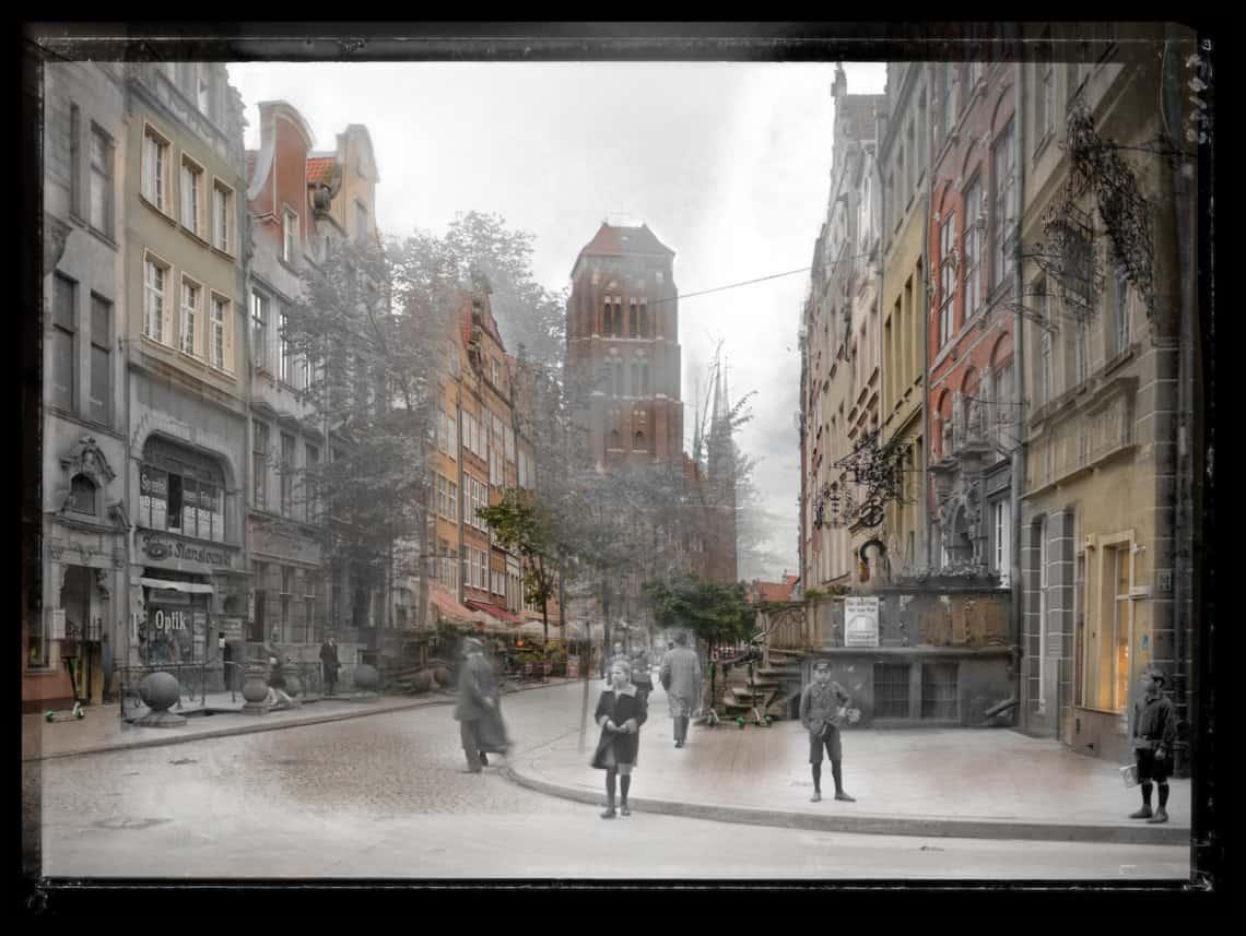 Zdjęcia starego Gdańska ulica Piwna IS_PAN_0000023143